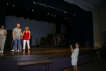 Cindy Ashley, Steve Peckinpaugh, Toni Lawson and Katherine Staton in the auditroium which opened our Senior year.