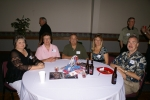 Deborah Mann, Cindy Ashley, Homer Varnado, Sue Waggoner Varnado and Matt Jennings. Neal Cowne standing in back.